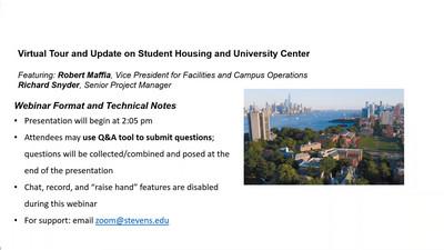 Title Slide - Stevens Housing and University Center Update