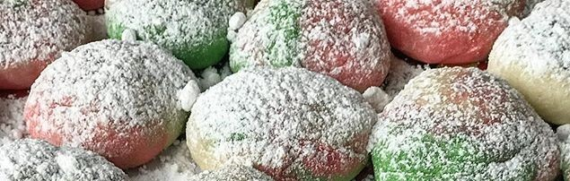 Red and Green Cheesecake Cookies by Oriana's Oven